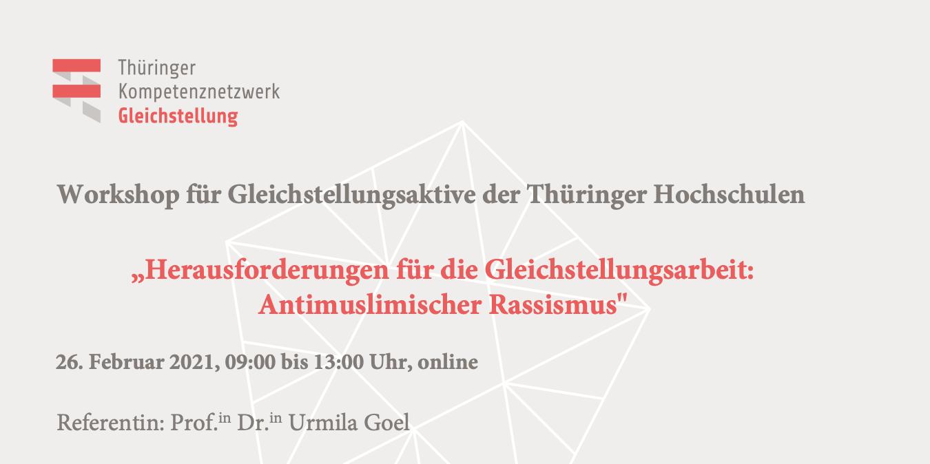 Workshop: Herausforderungen für die Gleichstellungsarbeit: Antimuslimischer Rassismus