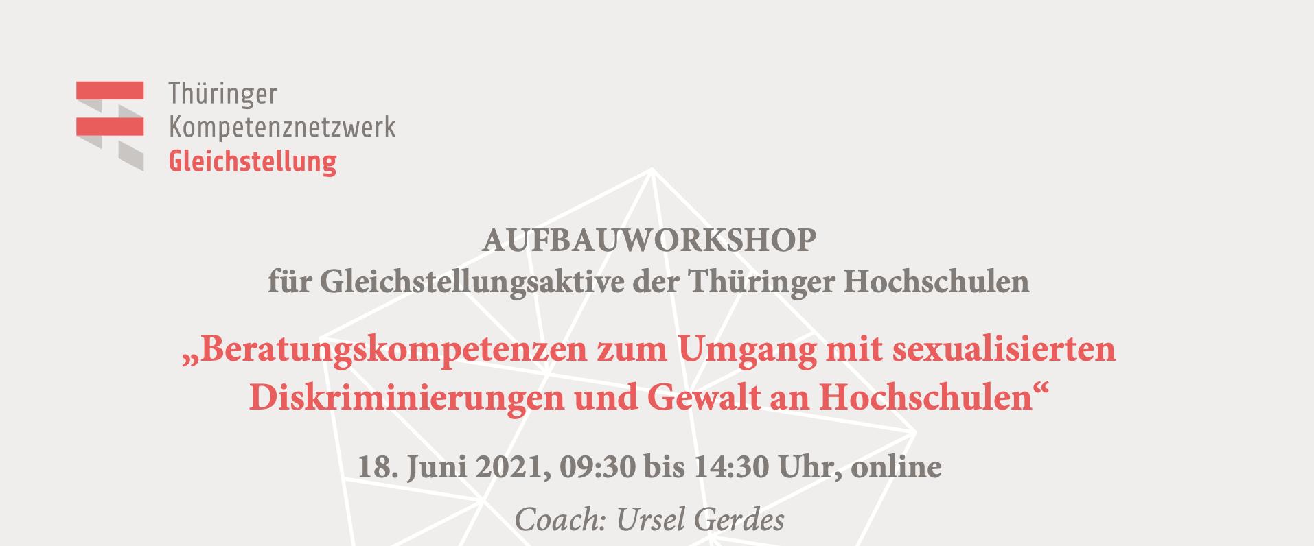 Workshop: Beratungskompetenzen zum Umgang mit sexualisierten Diskriminierungen und Gewalt an Hochschulen (Aufbauworkshop)