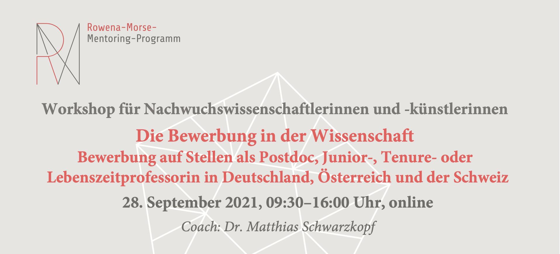 Die Bewerbung in der Wissenschaft: Bewerbung auf Stellen als Postdoc, Junior-, Tenure- oder Lebenszeitprofessorin in Deutschland, Österreich und der Schweiz