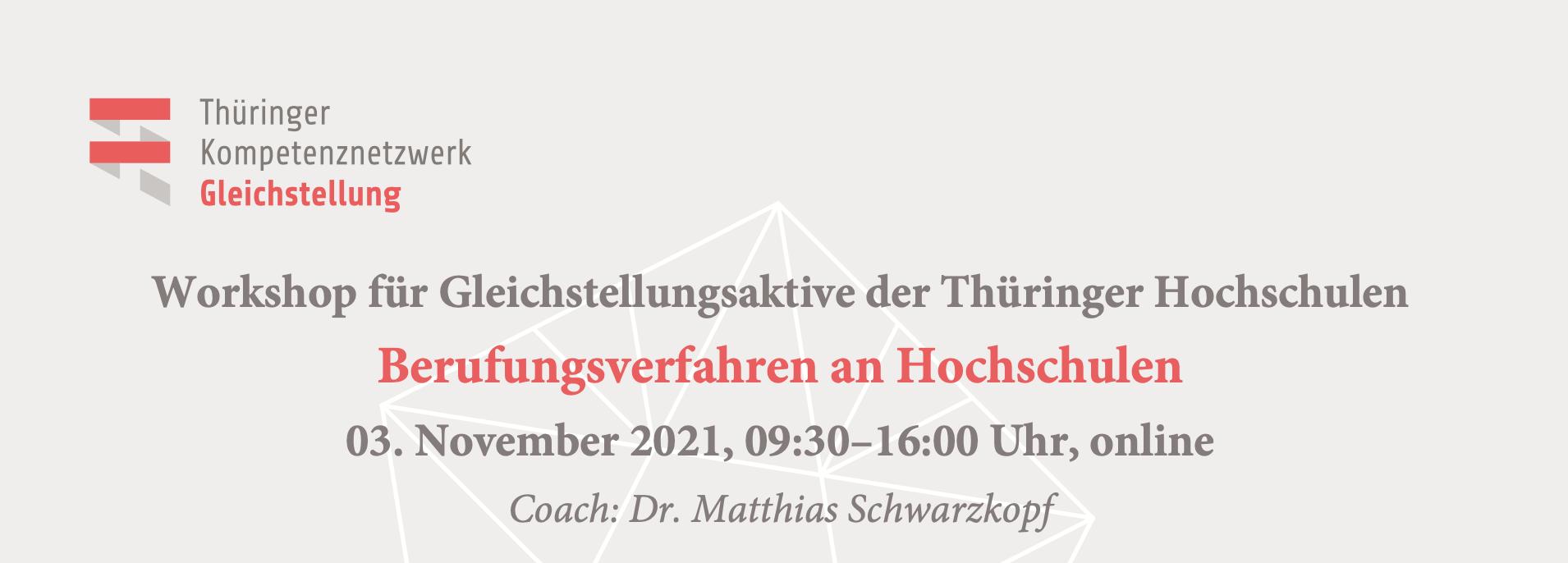 Workshop: Berufungsverfahren an Hochschulen
